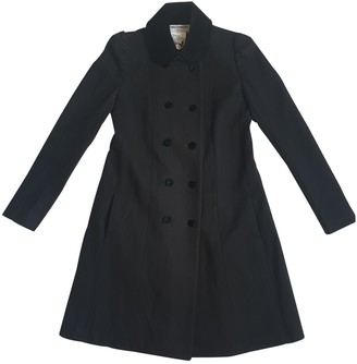 Charles Anastase Black Wool Coats