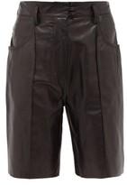 Petar Petrov Hugo High-rise Leather Shorts - Womens - Black