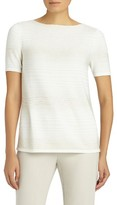 Lafayette 148 New York Women's Sequin Degrade Silk Blend Top