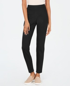 Style&Co. Style & Co Curvy Seamed Ponte-Knit Leggings, Created for Macy's