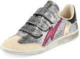Isabel Marant Beth Metallic Grip-Strap Sneaker