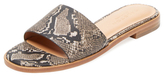 Halston Snakeskin Embossed Leather Slip-On Sandal