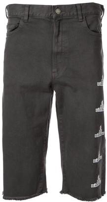 John Undercover Side Logo Bermuda Shorts