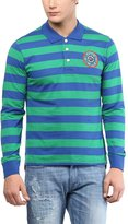 American Crew Stripes Polo Collar With Badge T-Shirt - XXL (AC058BFS-XXL)