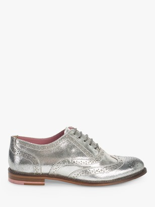 White Stuff Leather Lace Up Brogues, Silver