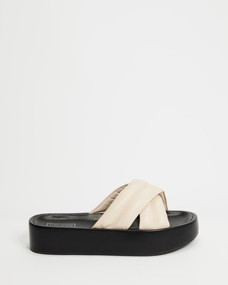 Therapy Women's Neutrals Flat Sandals - Heir - Size 7 at The Iconic