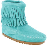Minnetonka Double Fringe Side Zip Boot (Infant/Toddler Girls')