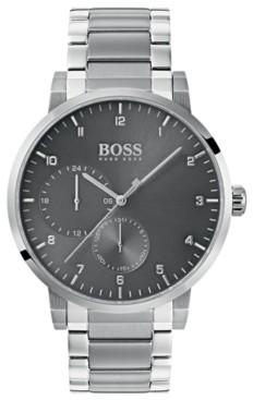 BOSS Hugo Men's Oxygen Stainless Steel Bracelet Watch 42mm