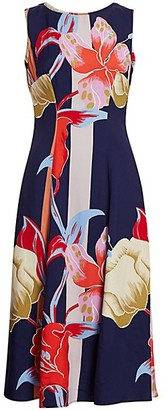 Etro Lily-Print Sleeveless Midi Dress