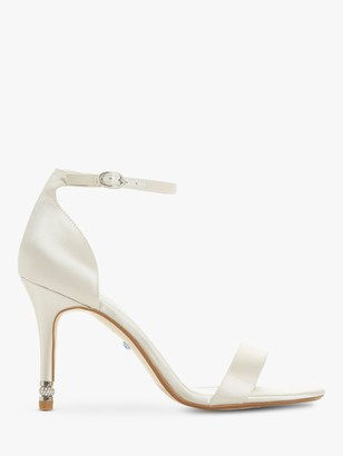 Dune Bridal Collection Match Maker Stiletto Heel Sandals, Ivory Satin