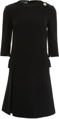 Prada Cady Elbow Length Sleeve Dress