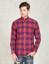 Silas Red Plaid L/S Shirt With Elbowpatch