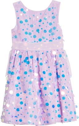Little Angels Lace & Ruffle Sleeveless Dress