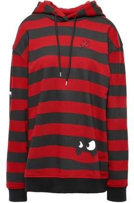 McQ Striped French Cotton-terry Sweatshirt