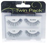 Ardell Twin Pack Lashes - # 105 Black Eyelashes 2 Pair Make Up