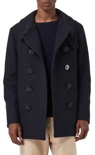 Burberry Men's Claythorpe Contrast-Face Pea Coat
