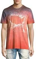 PRPS Pollen-Splatter USA Tie-Dye T-Shirt, Orange