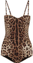 Dolce & Gabbana Leopard-print Swimsuit - Leopard print