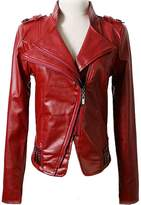 Benibos Women's Faux Leather Stand-up Collar Moto Biker Short Jacket