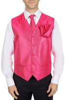 Buy Your Ties Men's Solid Formal Vest Necktie - Bow Tie and Hanky Set