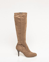 Le Château Faux Suede Almond Toe Knee-High Boot