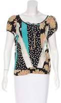 Christian Lacroix Silk Printed Top