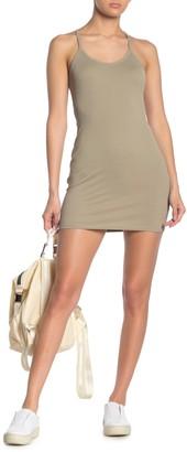 Double Zero Strappy Cut-Out Back Bodycon Mini Dress