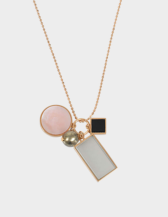 ginette_ny Ever frost Charm 18-karat rose gold necklace