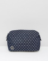 Mi-Pac Premium Make-Up Bag in Denim Spot