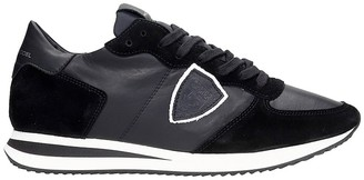 Philippe Model Trpx L Sneakers In Black Suede And Leather