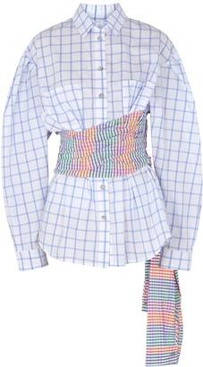 Natasha Zinko Checked belted cotton shirt