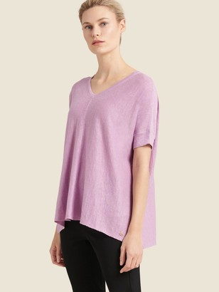 DKNY V-neck High-low Sweater