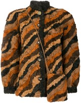 Christian Dior pre-owned patchwork shearling coat