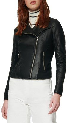Andrew Marc Felix Leather Moto Jacket