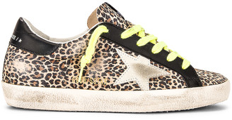 Golden Goose Superstar Sneaker in Beige, Brown, Leopard, and Ice | FWRD