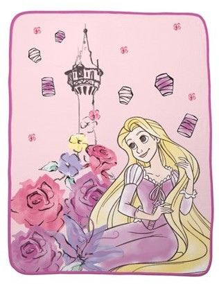 "Disney Princesses Plush Throw, Kids Bedding, 46""x 60"", Repunzel"