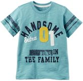 """Carter's Toddler Boy Extra Handsome Runs In The Family"""" Tee"""