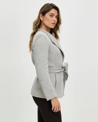David Lawrence Women's Grey Coats - Micaela Coat - Size One Size, 14 at The Iconic