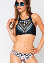 Missy Empire Liv Black Printed Strap Bikini