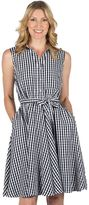 Larry Levine Women's Fit & Flare Gingham Dress