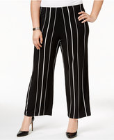 Alfani Plus Size Striped Culottes, Only at Macy's