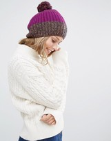 Alice Hannah Rib & Cable Patchwork Beanie