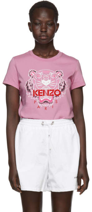 Kenzo Pink Limited Edition Bleached Tiger T-Shirt