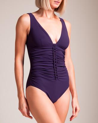 Karla Colletto Joanna V-Neck U-Wire Swimsuit