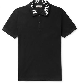 Alexander McQueen Slim-Fit Logo-Embroidered Cotton-Pique Polo Shirt