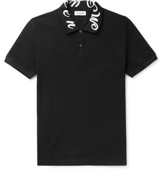 Alexander McQueen Slim-Fit Logo-Embroidered Cotton-Pique Polo Shirt