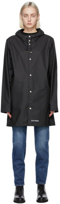 Stutterheim Black Lightweight Stockholm Rain Coat
