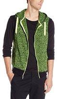 Southpole Men's Hooded Full-Zip Hoodie Vest