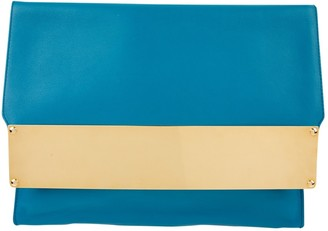 Sophie Hulme Blue Leather Clutch bags