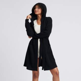 Naadam Cashmere Hooded Cardigan Black